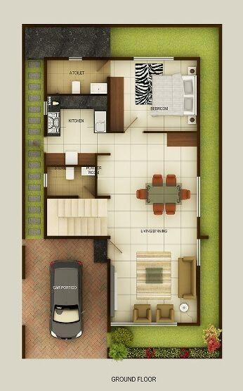 Beautiful Duplex Floor Plans | Indian Duplex House Design | Duplex House Map