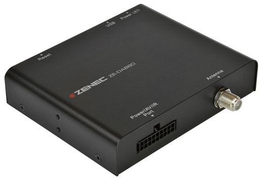 #Zenec ZE-DAB60 - Het genot van Digitaal Radio ontvangst in uw auto is mogelijk met deze #DAB Tuner. DAB + zenders is ook met een reeds aanwezig multimedia-systeem te ontvangen. De ZE-DAB60 is speciaal voor de ZENEC Moni- en Naviceiver, inclusief de #E>GO navigatie modellen, ontwikkeld en kan worden bediend via het touchscreen.