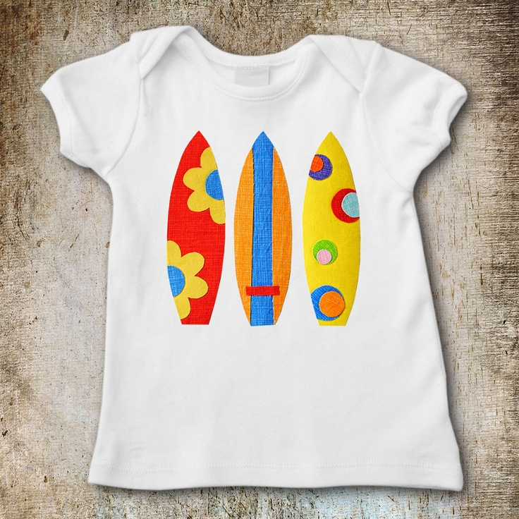Surfboards Applique Template PDF Pattern Holiday Beach Fun Includes 5 Surfboard Designs by Angel Lea Designs. $2.30, via Etsy.