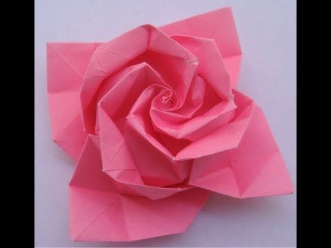 141 best wedding origami images on pinterest origami paper paper origami tutorial rose mightylinksfo Choice Image