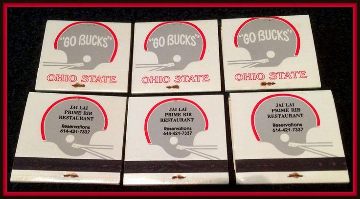 LOT OF 6 1990 OHIO STATE BUCKEYE UNUSED UNSTRUCK MATCHBOOK FOOTBALL SCHEDULES #Matchbook #MATCHBOOKSCHEDULES