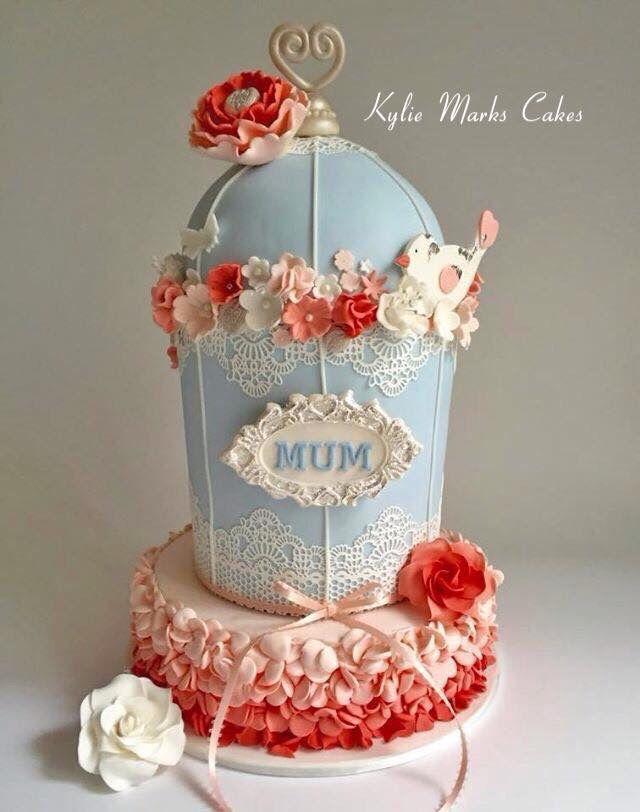 Vintage bird cage cake for my  Mum #kyliemarkscakes