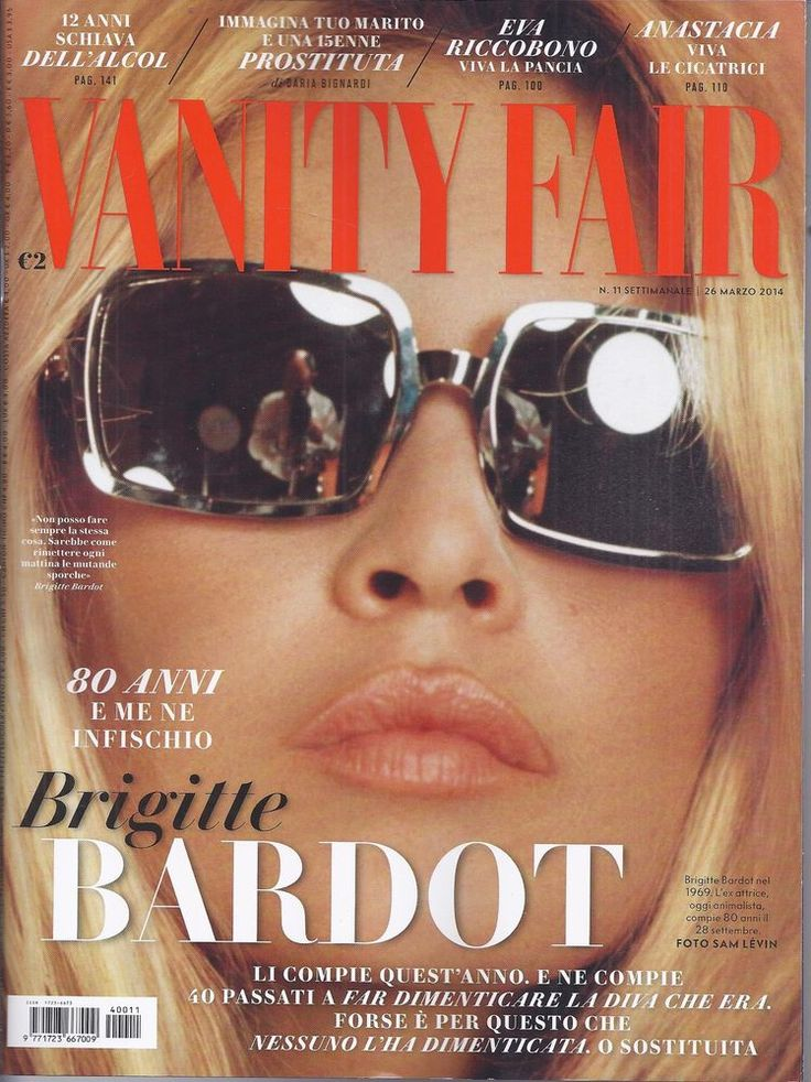 Bridget Bardot in Italian Vanity Fair magazine