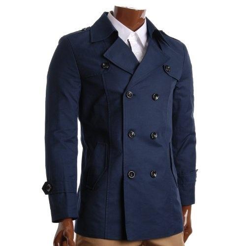 FLATSEVEN Herren Slim Fit Designer Lässige Trench Coat (CT201) FLATSEVEN, http://www.amazon.de/gp/product/B008X89FV6/ref=cm_sw_r_pi_alp_nXplrb0T7Y5FM