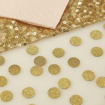 Scatter this stunning gold sparkle table confetti on wedding tables or even perfect for decorating tables at any special celebration.