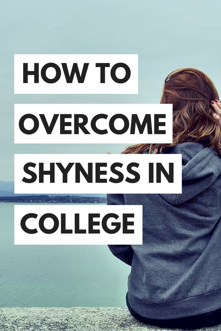 Learn how to be more confident and overcome shyness in college!