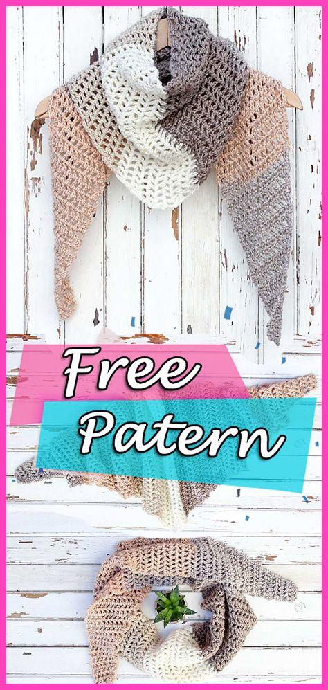 Desert Winds Triangle Scarf Crochet Free Pattern #crochet ...