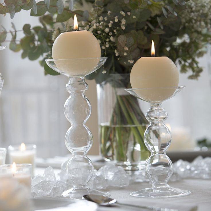 38 best images about porta velas de cristal on pinterest mesas porta velas and tea lights - Velas y portavelas ...
