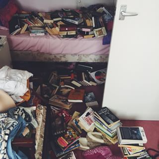 When you decide to rearrange your books and realise just how much your book hoarding has gotten out of hand. | 29 Pictures Only Book Lovers Will Understand