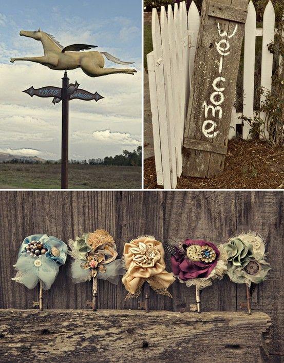 Vintage Boutineers: Diy Able Hair, Vintage Keys, Rustic Boutonniere, Antiques Keys, Skeletons Keys, Diy Abl Hair, Hair Accessories, Keys Boutonnieres, Ranch Weddings