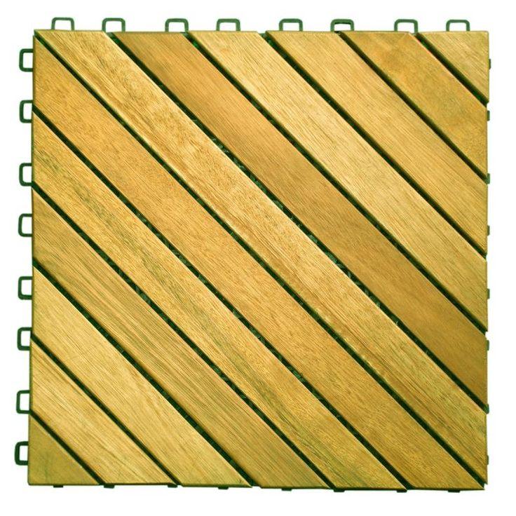 flexdeck interlocking wood deck tiles over concrete patio canada acacia hardwood diagonal slat design tile