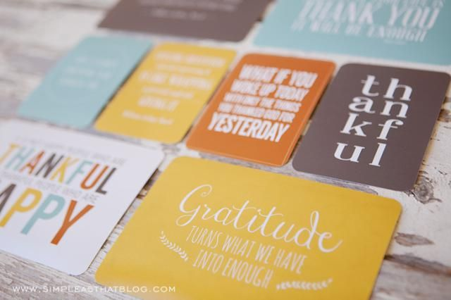 Print a Free Thanksgiving Greeting Card to Send to Family and Friends: Printable Thanksgiving Quote Cards by Simple as That