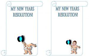 New Year's Resolution Printable Worksheet