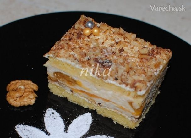 Jogurtovo-broskyňový rez