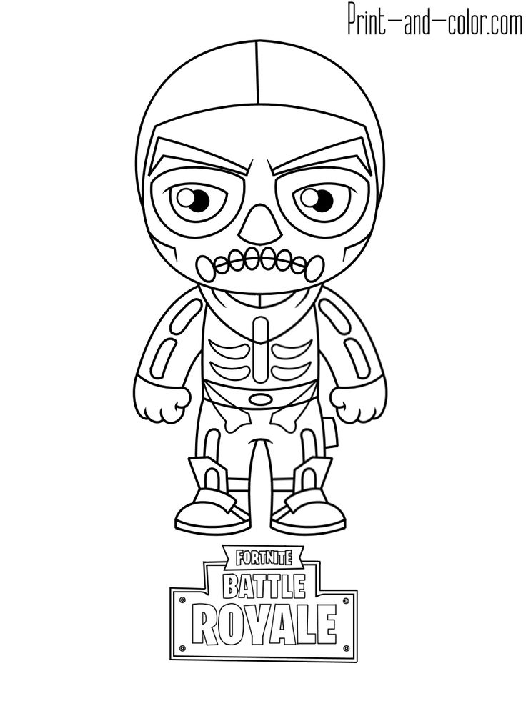 Fortnite Coloring Pages Graffiti Characters Print