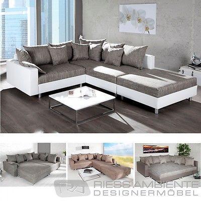 Ecksofa LOFT XL Design Sofa Wohnlandschaft Couch Couchgarnitur Wohnzimmer