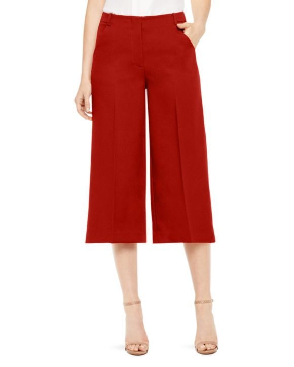 VINCE CAMUTO Pleat Front Tailored Culottes | Bloomingdales's