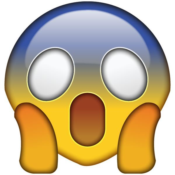 High Resolution OMG Face Emoji - Shocked and scared by something incredibly alarming? This emoji captures that feeling with its screaming face.