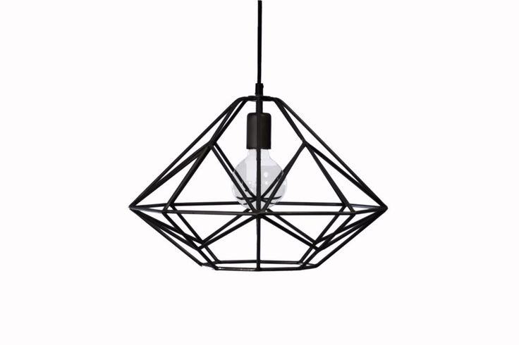 Lampa wisząca Wire - czarna - Loft & more