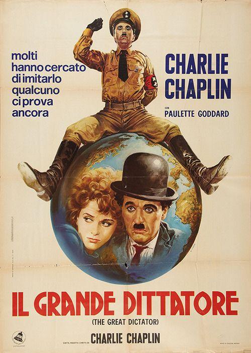 1960s Italian 2-foglio for The Great Dictator (Charles Chaplin, USA, 1940). Artist: Renato Casaro (b. 1935)