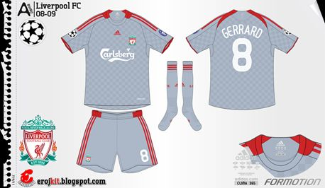 Liverpool | away jersey | 2008-09