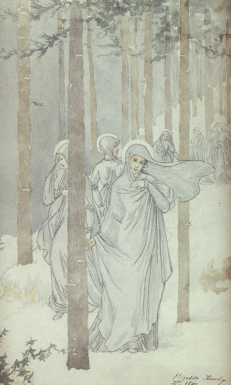 Sometimes in the company of other winter spirits.....L'Hiver by Elisabeth Sonrel