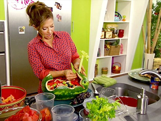 Get Whale-Shaped Watermelon Salad Recipe from Food Network