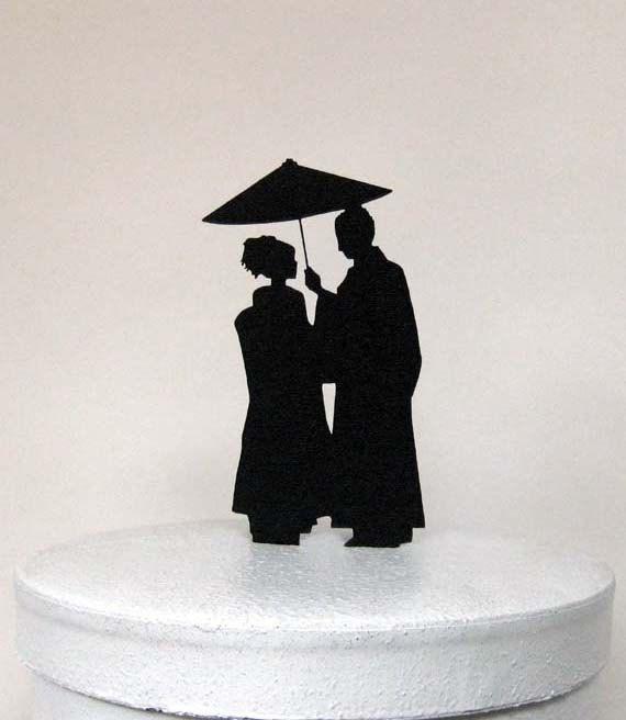 Wedding Cake Topper Japaese Wedding by Plasticsmith on Etsy