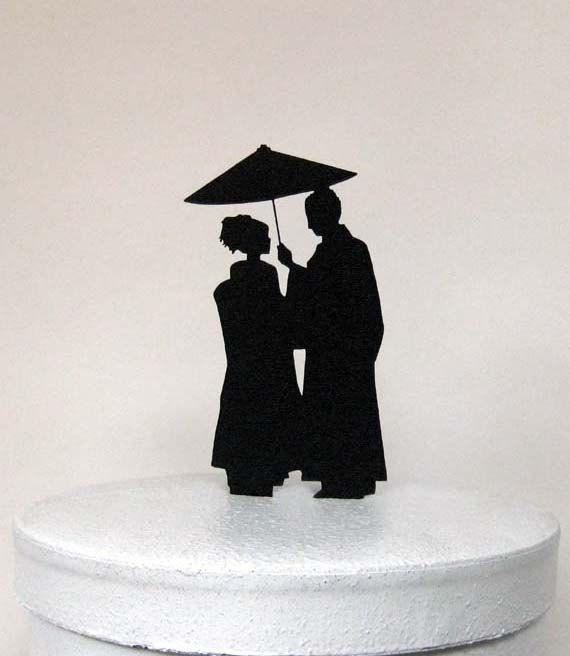 Wedding Cake Topper Japaese Wedding by Plasticsmith on Etsy