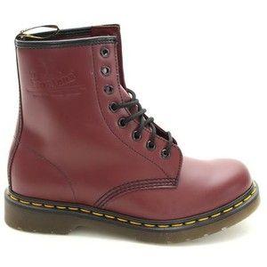 Dr Martens 1460 Doc Kirschrot Lace Up Leder Damen Ankle Boots