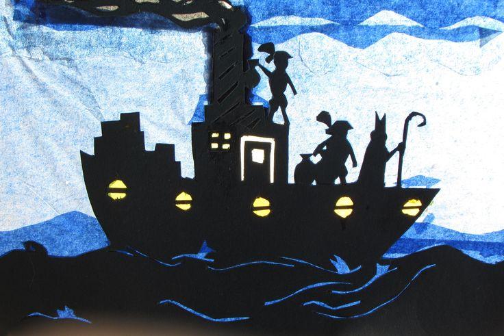 Sinterklaasboot, ontworpen door een 10-jarige jongen