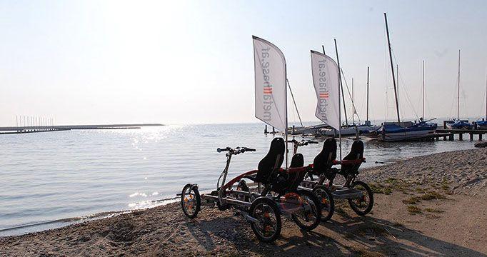 Fahrradurlaub mit metallhase - Vierrad Tandem Fahrrad