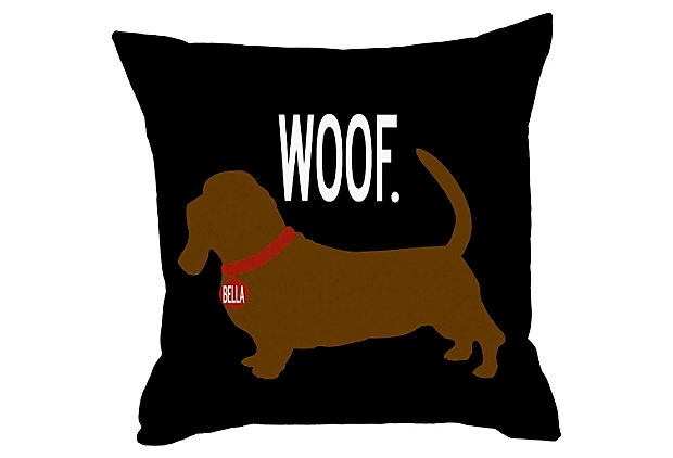 {personalized Woof pillow} for the doxie lover!: Dachshund 20X20, Darling Pillows, Weenie Dogs, Personalized Dogs, Dogs Pillows, Personalized Dachshund, Products, 20X20 Pillows, Dachshund Pillows