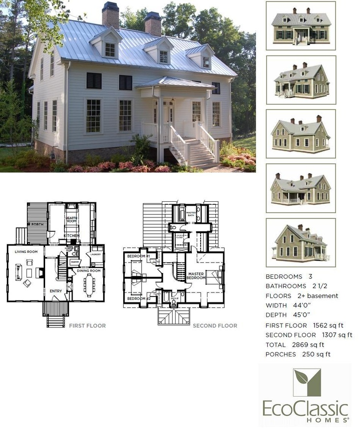 The chadwick 3 bedroom 2 5 bath greek revival for Chadwick house plan