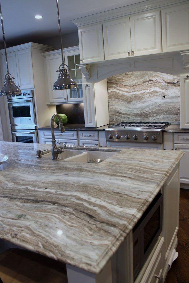 Chiott Custom Homes Kitchen Gray Cabinets Fantasy Brown Marble Countertops Brown Granite Countertops Fantasy Brown Granite Fantasy Brown