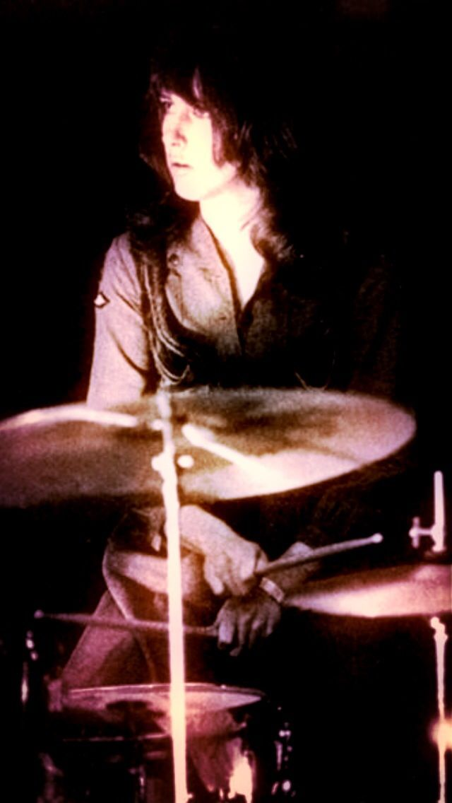 Grace Slick of Jefferson Airplane on drums