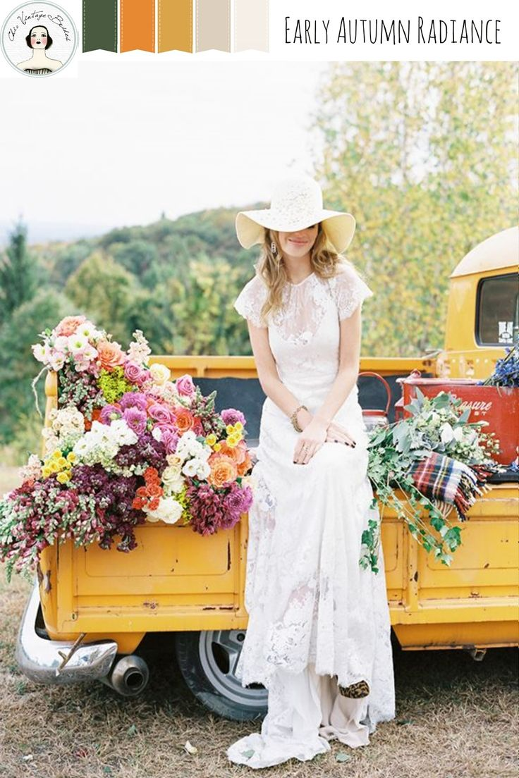 Early Autumn Radiance – Rustic Wedding Inspiration in Rich Fall Shades