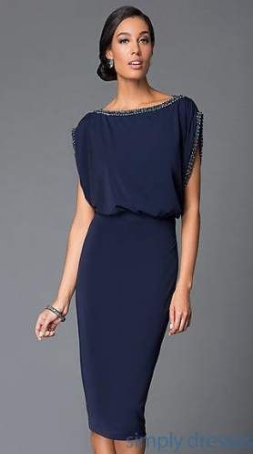 New dress elegant simple short navy blue ideas