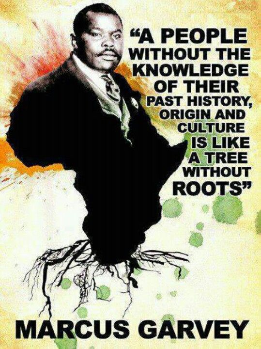 "A people without the knowledge of their past history, origin and culture is like a tree without roots  - Marcus Garvey...""love this quote"""