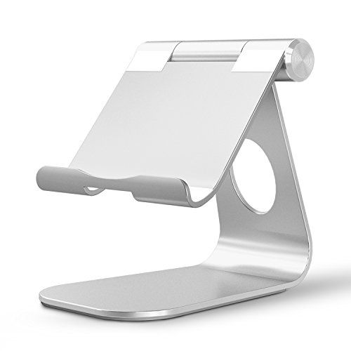 nice iPad Pro Stand, OMOTON Multi-Angle Aluminum Stand, with Portable Adjustable Charging Dock for iPad Pro 12.9 9.7 inch, iPad Air, Samsung Tablet etc, Solid Durable Holder and Minimalist Design, Silver