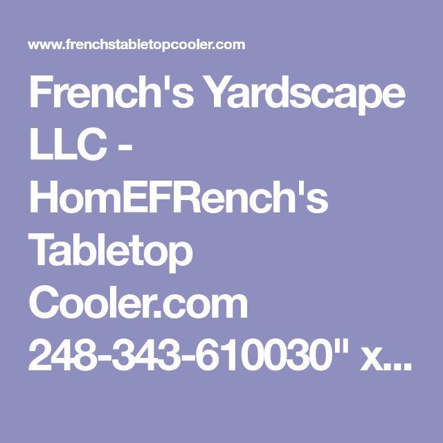 """French's Yardscape LLC - HomEFRench's Tabletop Cooler.com    248-343-610030"""" x 72"""" inflatable cooler designed with a unique inflatable base & sides which is used to keep salads or other perishables cold for hours."""