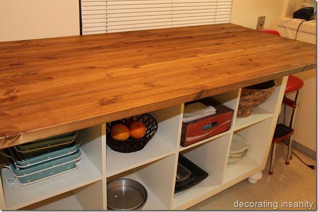 ikea expedit kitchen island. Black Bedroom Furniture Sets. Home Design Ideas