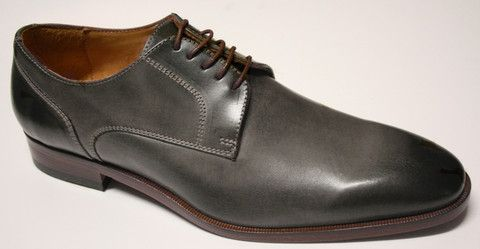 Mercanti Dallas Grey Lace up Shoe Hand made in Italy