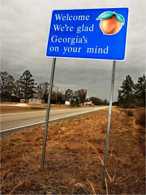 Every time I leave the state, seeing the Georgia sign makes me feel right at home.  It is indeed, a sight for sore eyes...