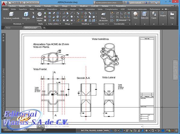 AutoCAD 2016 Mecánico 2D 1