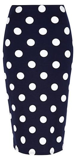 River Island polka dot pencil skirt