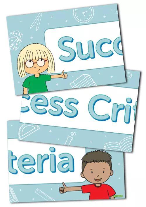 Success Criteria Display Banner Teaching Resource