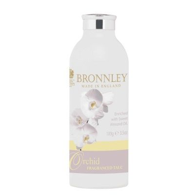 Bronnley Orchid Fragranced Talcum Powder Bronnley Orchid Fragranced Talcum Powder A fresh, floral Orchid Fragranced Talcum Powder. This body powder is enriched with nourishing Sweet Almond Oil, perfect for leaving the skin feeling silky, sof http://www.MightGet.com/january-2017-12/bronnley-orchid-fragranced-talcum-powder.asp