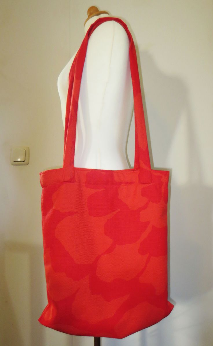Orange canvas shopper
