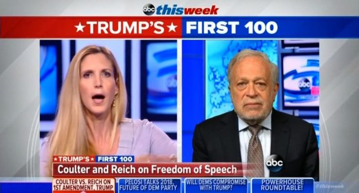 Robert Reich masterfully turns Ann Coulter's 'free speech' gripes into smackdown on Trump's media war